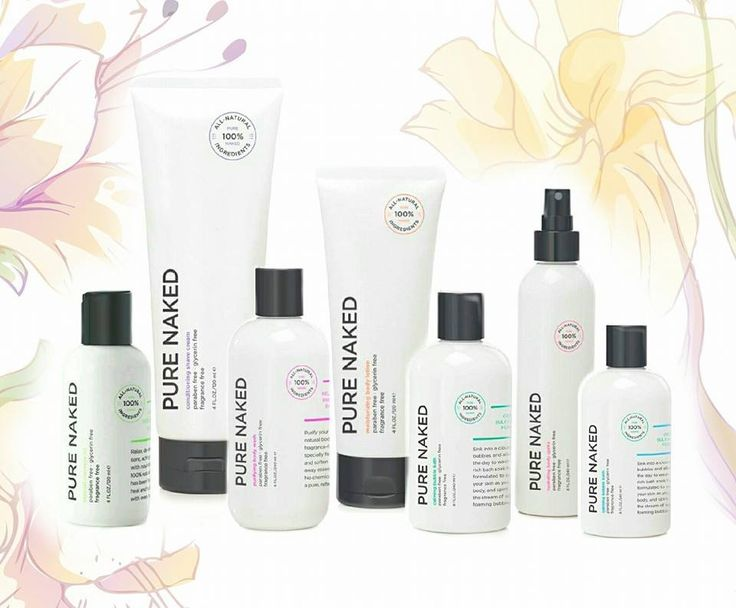 PURE NAKED COLLECTION - safe for sensitive skin. ALL-NATURAL ingredients. FREE of Fragrance, Paraben, and Glycerin. Pure Romance by Nicole Kelly