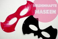 Masken zum ausdrucken für Kinder  Superhelden Geburtstag