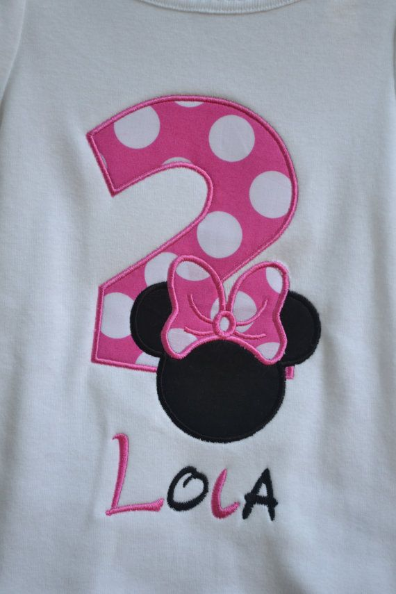 Minnie Mouse Birthday Shirt by adeichhorn on Etsy