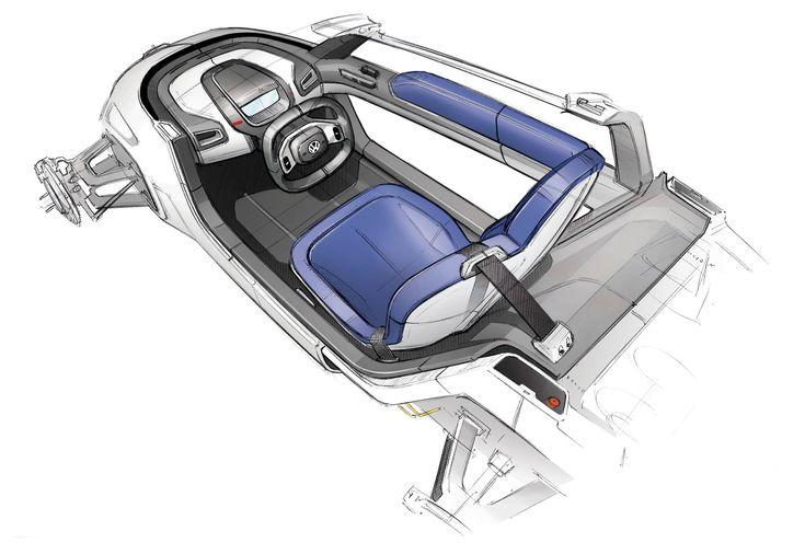 Volkswagen NILS Concept Interior Design Sketch