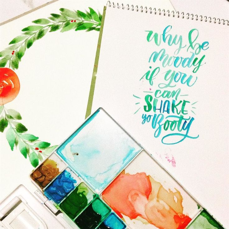 for more #calligrabasics #cb_ombre . . . Quote taken from #pinterest . #handlettering #brushlettering #greenwtercolor #watercolorlettering #brushcalligraphy #lettering #cute #funnyquotes #cutequote #relatablequotes #watercolor #wreath #watercolorwreath