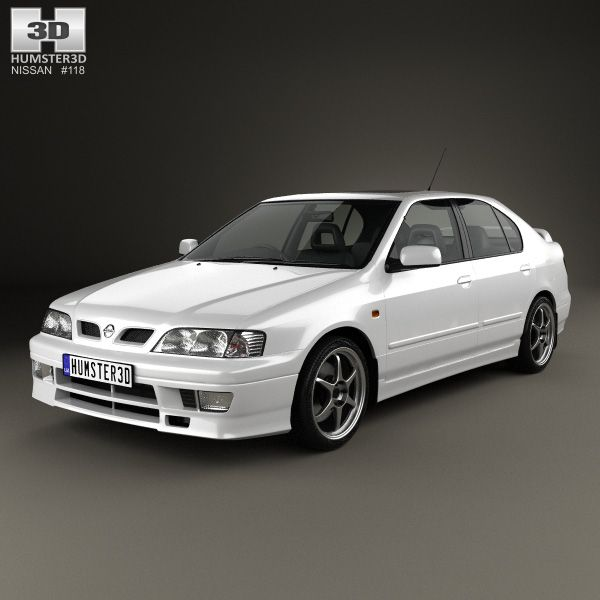 Nissan Primera GT 1997 3d model from Humster3D.com