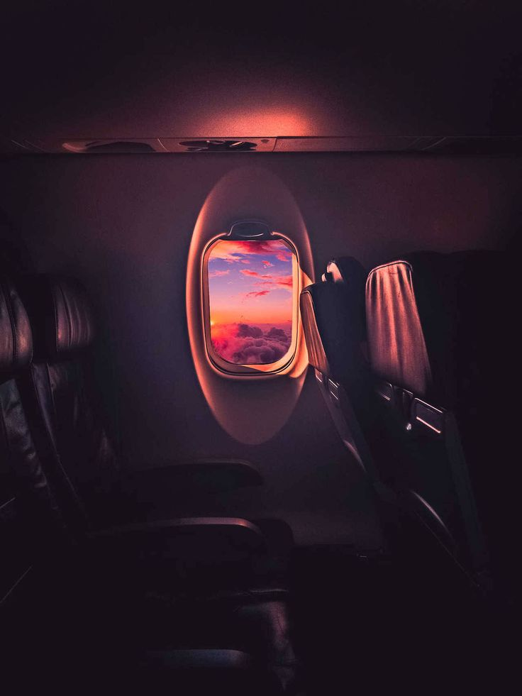 Watching the Sunset from 32000 ft - Author: spicedpumpkins