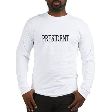 President Black Long Sleeve T-Shirt