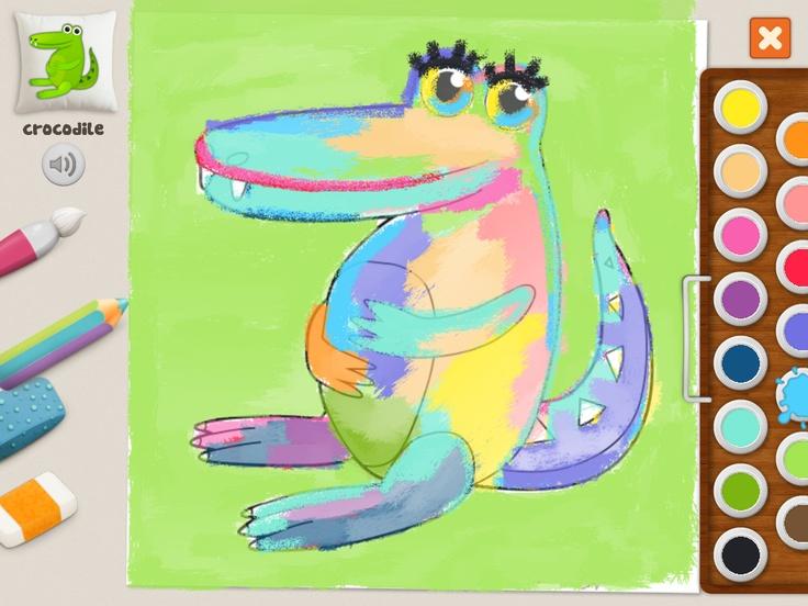 """Crocodile Princess"" - Joanna (28)  #memollow #kids #coloring #crocodile"