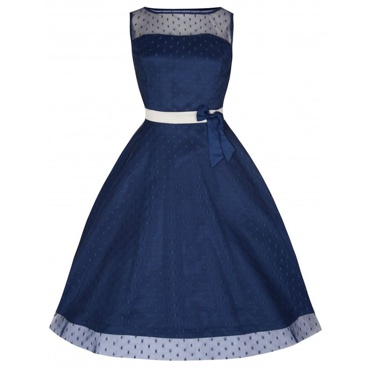 'Dolly' Elegant 50's Midnight Blue Vintage Style Prom/Bridesmaid Dress