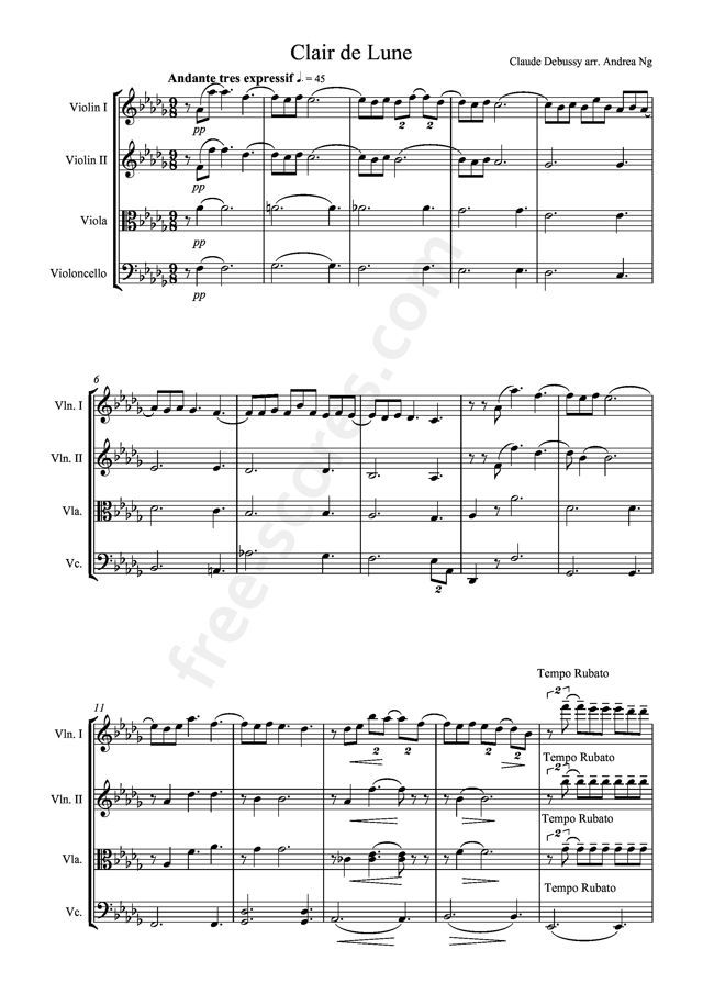 Piano free piano sheet music clair de lune : 92 best v i o l a & v i o l i n images on Pinterest | Piano ...