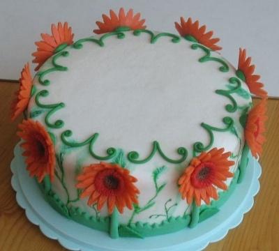 Torta-gerbera (da CakeCentral.com)