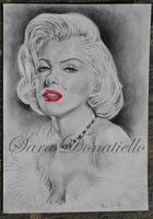 Marilyn Monroe graphite, http://saraportrait.deviantart.com/