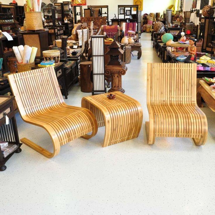 Design Tisch Und Stühle Set Bambus