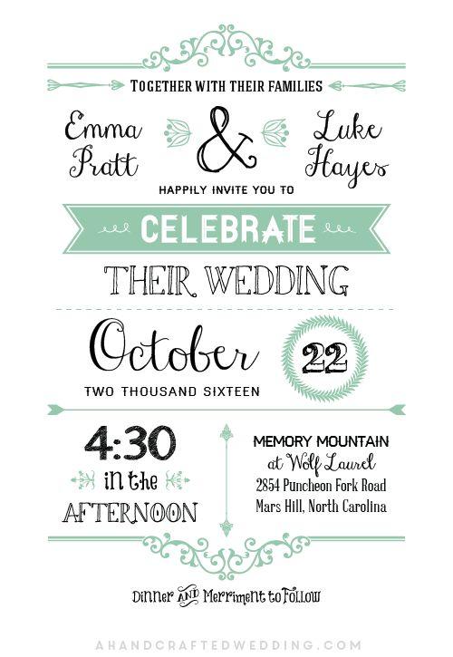 Přes 25 nejlepších nápadů na téma Free Wedding Invitation - free dinner invitation templates printable