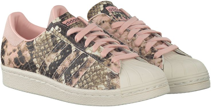 Roze Adidas Sneakers SUPERSTAR 80S DAMES