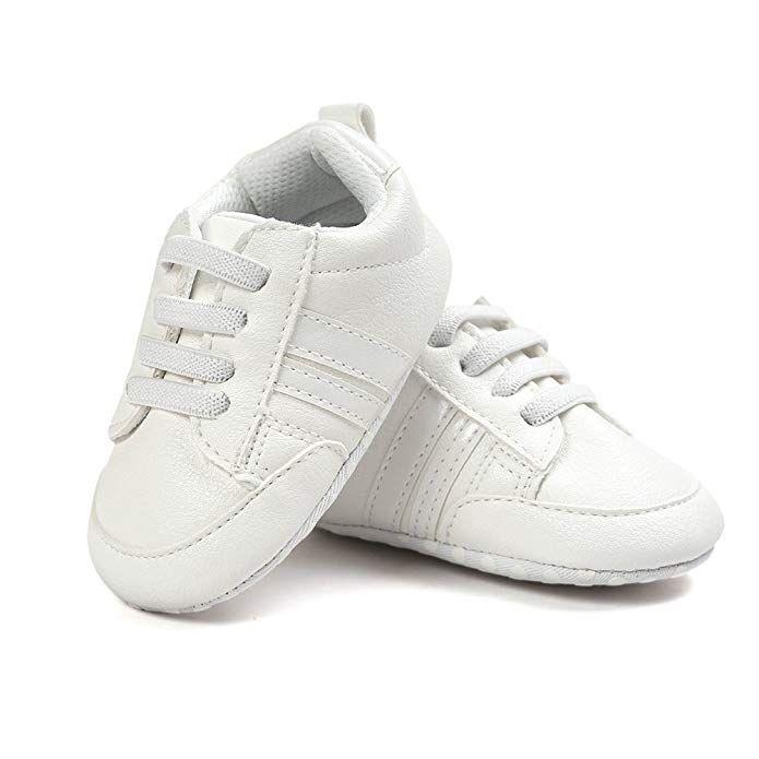 Csfry Newborn Baby Boys Premium Soft Sole Infant Prewalker Toddler Sneaker Shoes
