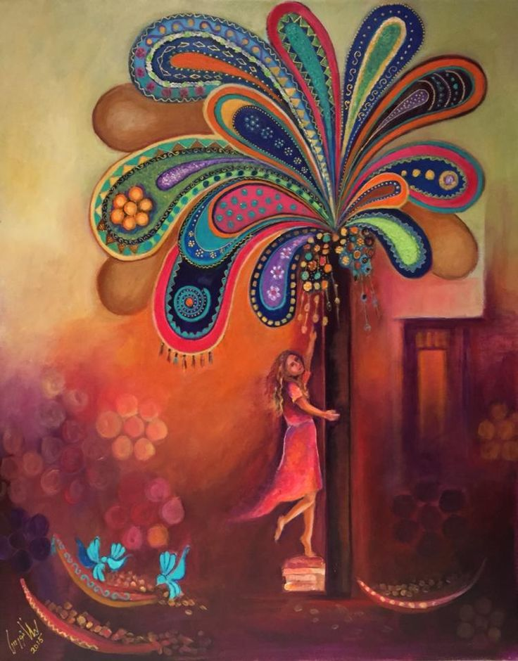 By the creative Iraqi artist, Layla Nowras. More gorgeous paintings can be found on the Facebook page, Layla Nowras Paintings
