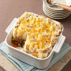 Diabetic Shepherd's Pie is an easy recipe for a healthier version of the old time classic Shepherd's Pie, made with healthier-for-you ingredients. It is a healthy, low fat, low calories, low sodium, low sugars, low carbohydrates, diabetic and Weight Watchers  (8) PointsPlus recipe. Makes 6 servings with a 1-1/2 cup serving size.