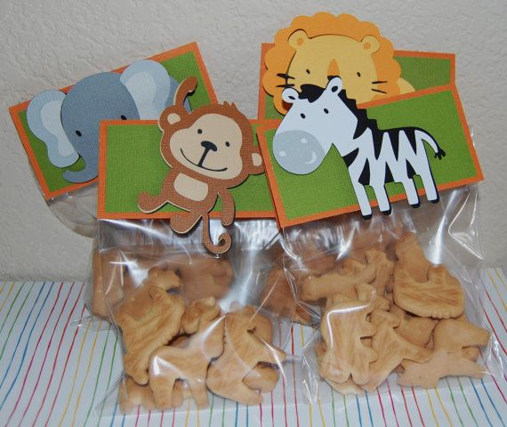 Safari party snack idea! Or animal crackers in animal print homemade baggies!