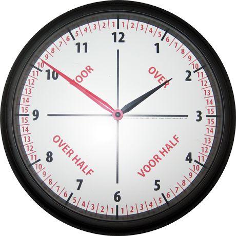 handige klok om te leren klokkijken!