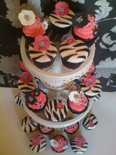 Hot Pink  Zebra Print CupCakes x   Flickr - Photo Sharing!