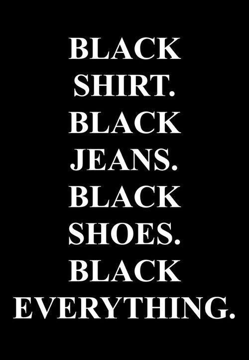 You say black, like there is something wrong with it. What! There are colors besides black? Who knew...