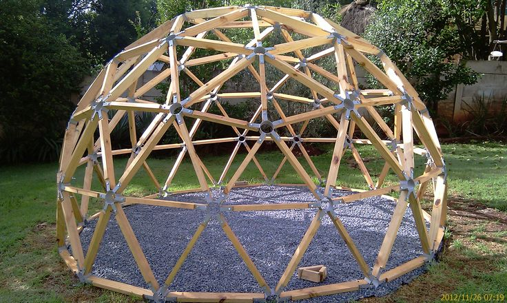 how to draw a geodesic dome