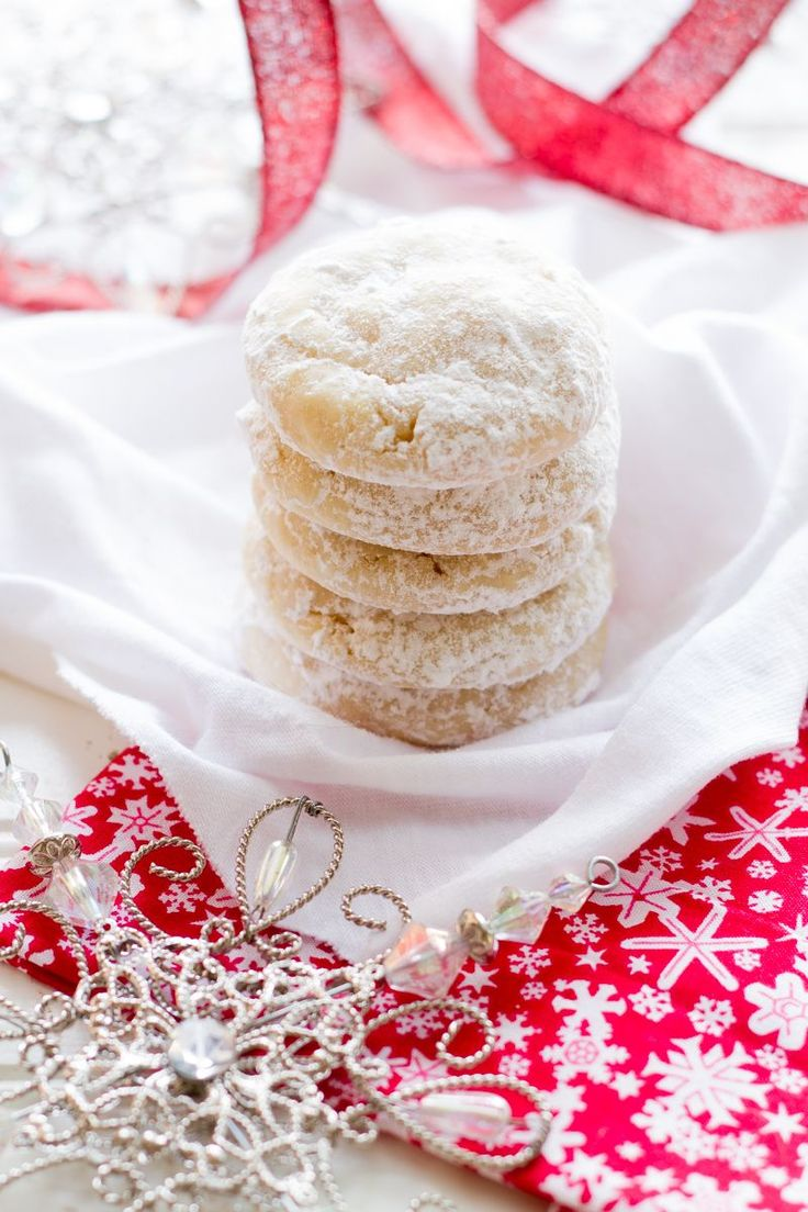 Chewy Lemon Snow Drop Cookies