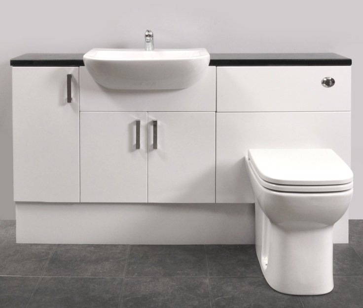 Gloss White Fitted Bathroom Furniture 1500mm Package