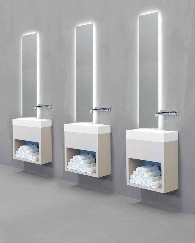 Single wall-mounted vanity unit LAVAMANI - RIFRA