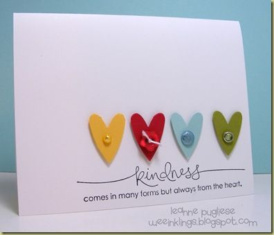 hearts: Scrapbook Ideas, Cards Ideas, Kind Cards, Note Cards, Homemade Cards, Paper Crafts, Felt Heart, Heart Cards, Kind Matter