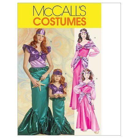 mccalls patterns m5498 misseschildrens girls mermaid