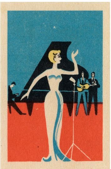 Russian matchbox cover, 1950s