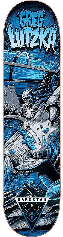 Darkstar Greg Lutzka Resin 7 Crash Skateboard Deck Skull