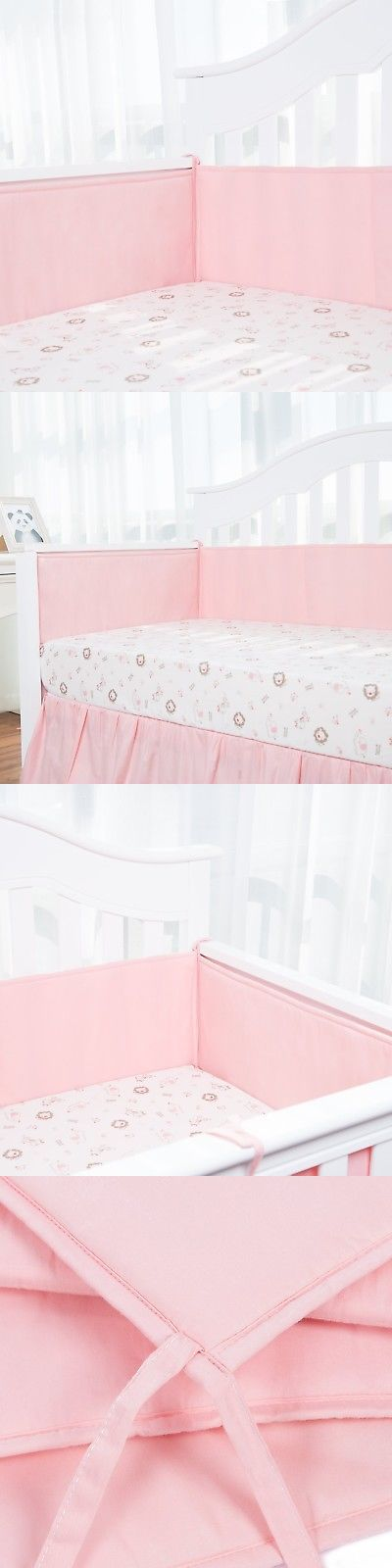 Bumpers 20417: Tillyou Padded Crib Bumper Set For Baby Girls, Premium Woven Cotton And B... New -> BUY IT NOW ONLY: $36.99 on eBay!