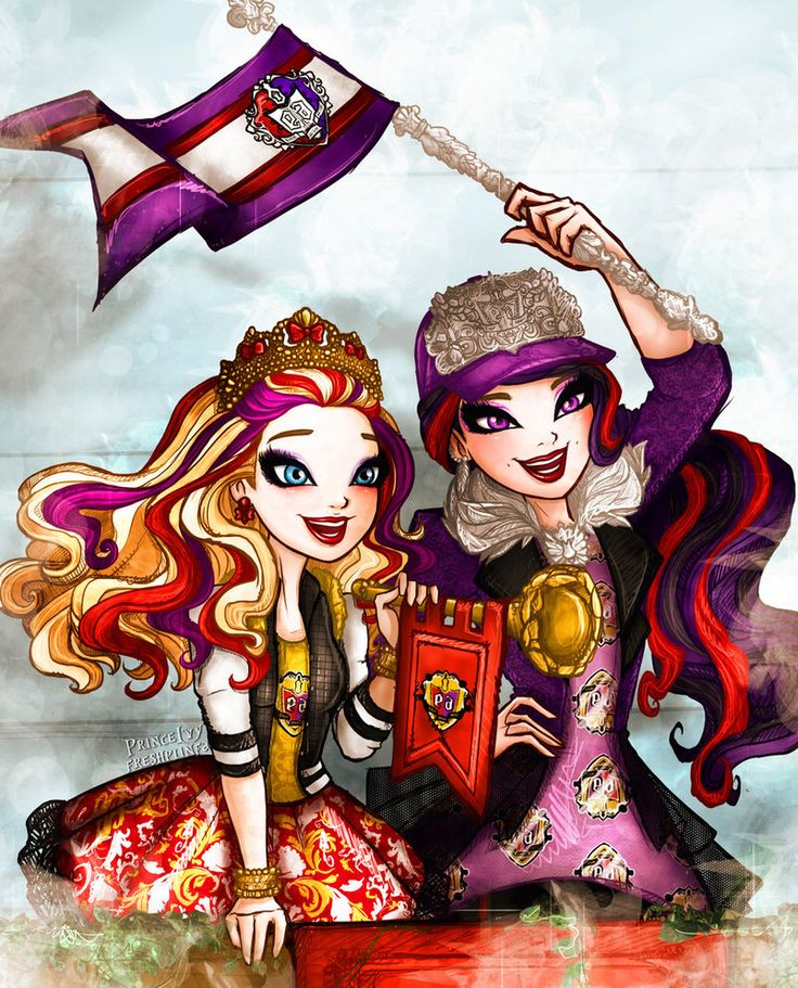 Ever after high School Spirit Raven and Apple