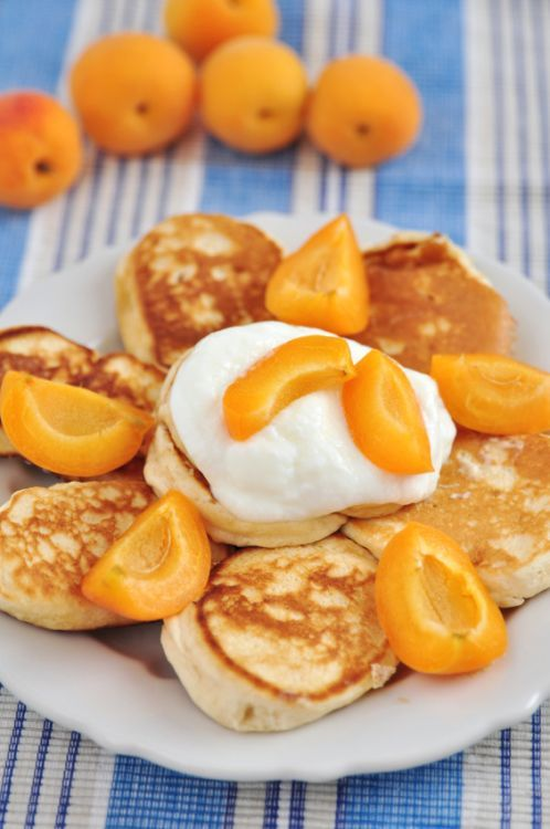Ricotta Pikelets with Apricots