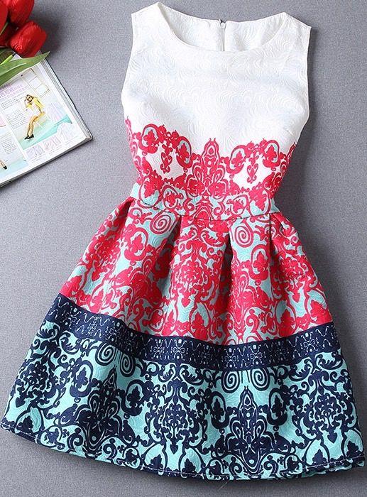 Lovely printed dress for Christmas