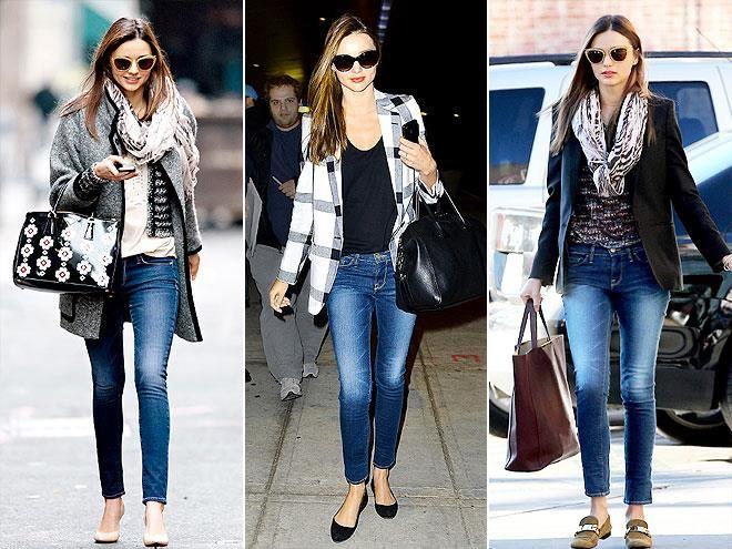 Белые туфли синие джинсы