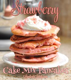 Strawberry Cake Mix Pancakes Recipe