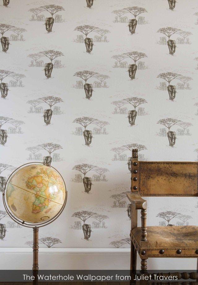 The Waterhole wallpaper from Juliet Travers