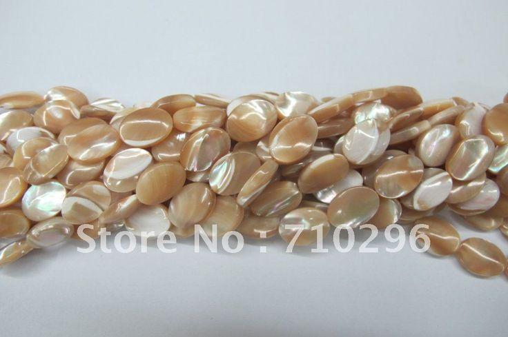 Природный Раковины Стеклянные Бусы 10x14 мм Природный Shell Овальные Бусины Для Jewelry.10 строка/серия