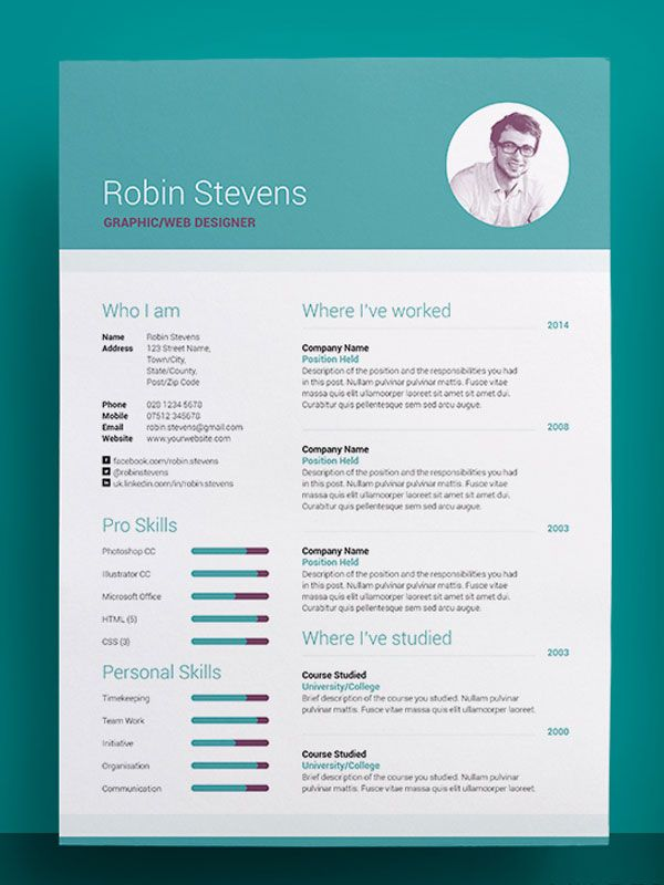 179 best Resumé images on Pinterest Resume cv, Resume ideas and - awesome resume templates free