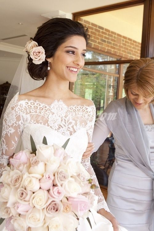 wedding dress with a vintage look