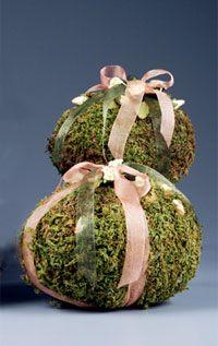DIY   Make Moss Covered Easter Egg Decorations starting with styrofoam eggs