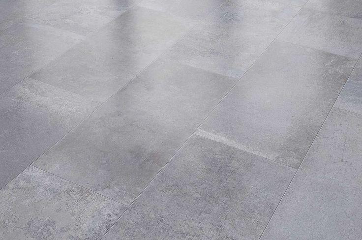 Visiogrande Laminat Fliese Zementestrich Grau 8 mm