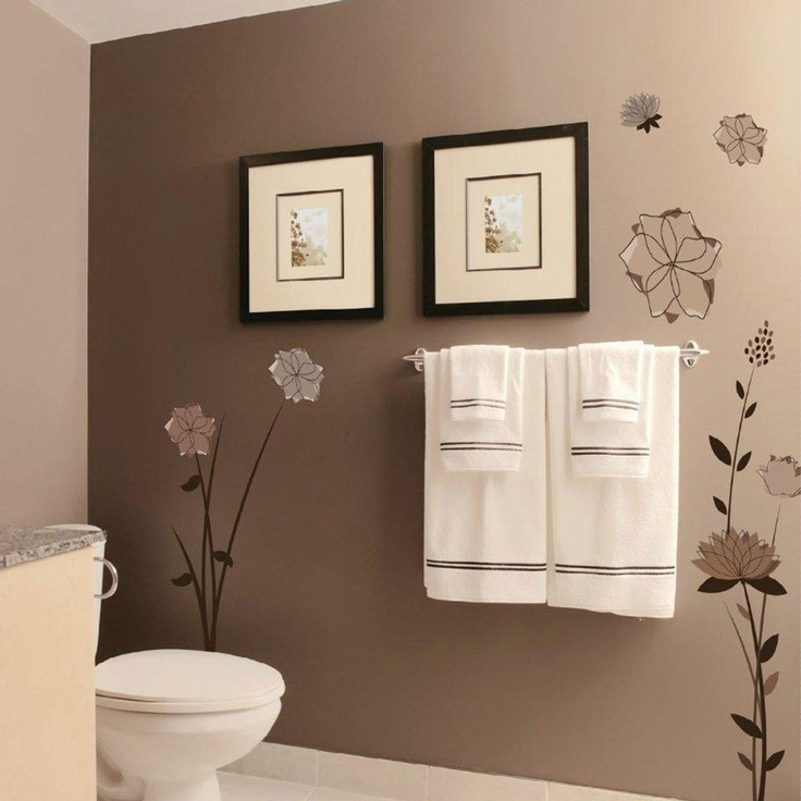 pinterest bathroom colors applique by kmg flowers decorative wall decal 13979
