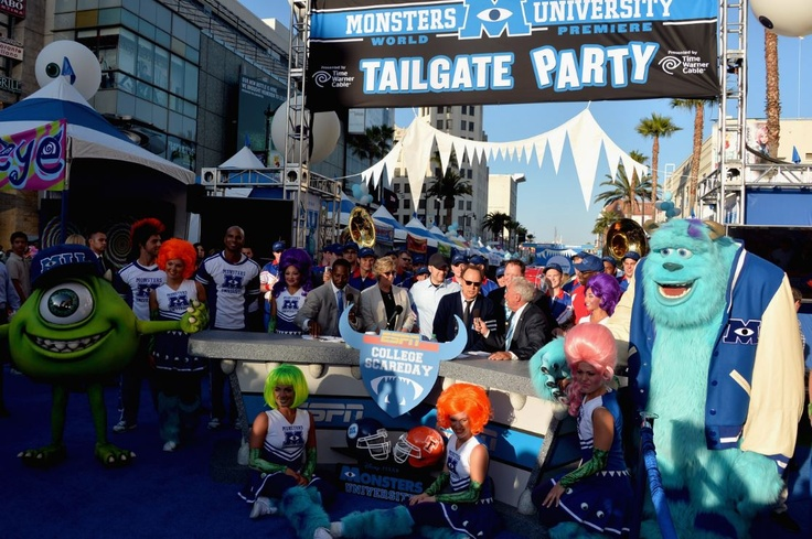 We had so much fun at the Monsters University World Premiere Tailgate Party #MonstersUPremiere