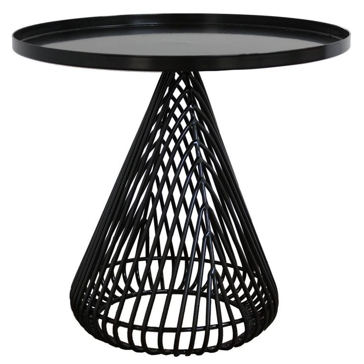 Contemporary, Wire and Sheet Metal, Cocktail Cono Side Table by Bend Goods | 1stdibs.com