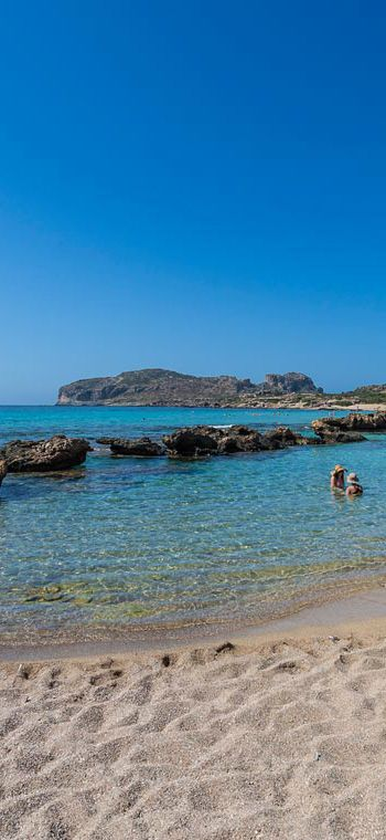 Long sandy beach of Falassarna in Chania, Crete