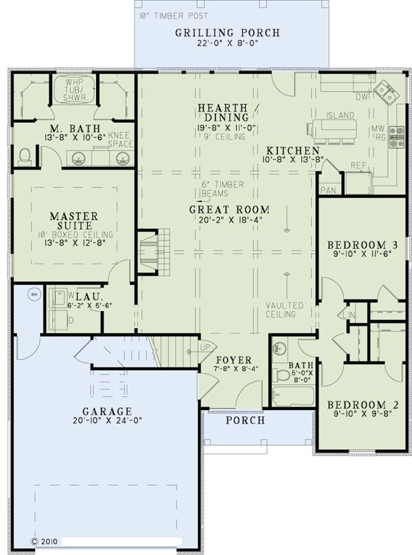 First Floor Plan of Craftsman   European   Tuscan   House Plan 82272