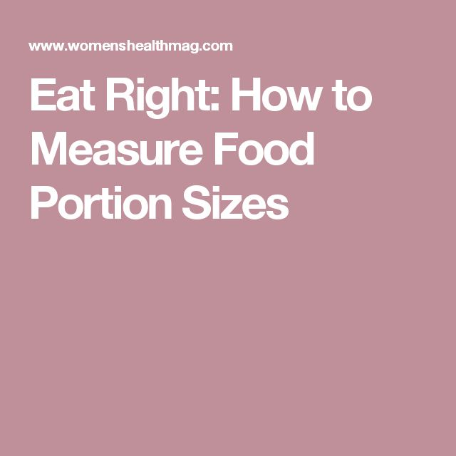how to measure food portions to lose weight