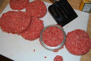 Canning Hamburgers...